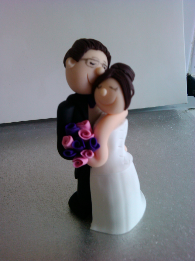 Chubby Wedding Cake Toppers