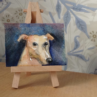ACEO Hound head