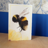 Watercolour bee card