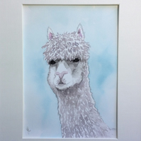 Alpaca painting original art
