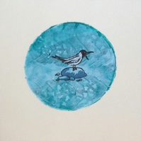 Seagull card original print