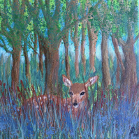 """Spring Fawn"" acrylic painting"