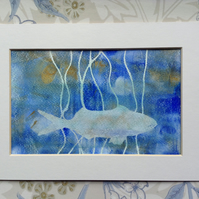 """""""Fish in Reeds"""" monoprint"""