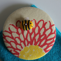 Button Bee Pocket Mirror