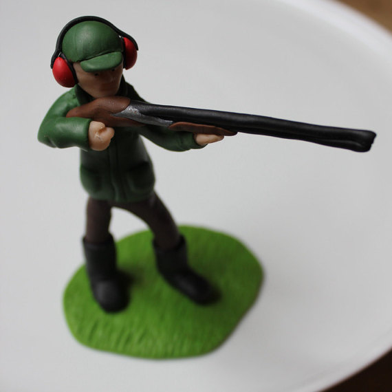 Clay Pigeon Shooting Polymer Clay Cake Topper F Folksy