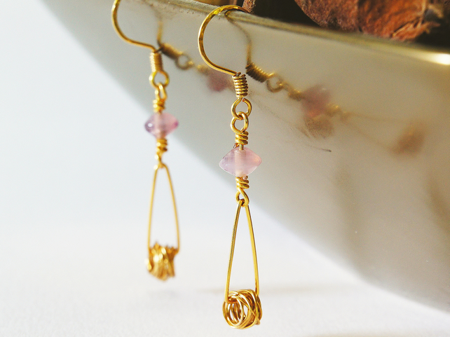 Golden tangle earrings