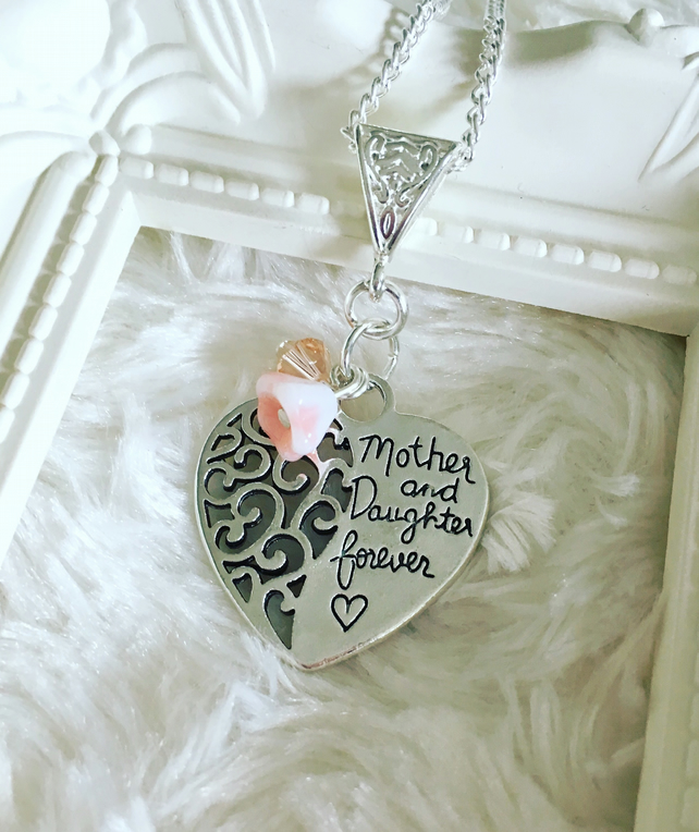 Mother & daughter forever pendant