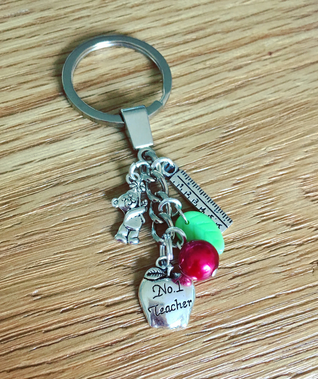 Teacher theme keyring