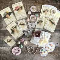 Victorian hat ladies inspiration kit LARGER SIZE