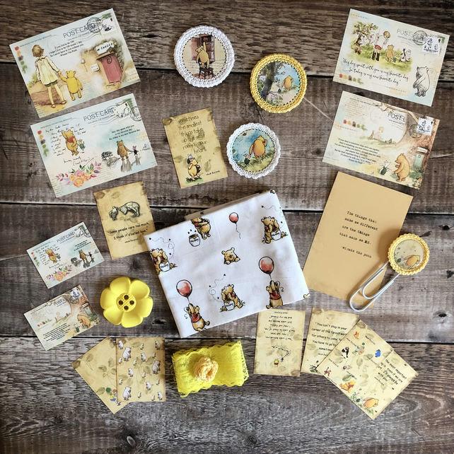 Winnie the pooh inspiration kit with fabric