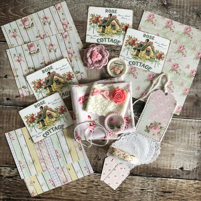 Excellent Rose Cottage Shabby Chic Inspiration Kit Includes Tanya Whelan Fabric Interior Design Ideas Clesiryabchikinfo