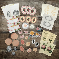 Vintage style journal cards and ephemera pack