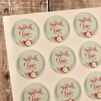 Made with love sticker sheet