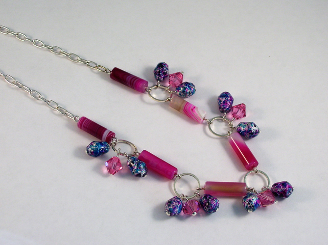 Pretty in Pink and Blue Necklace