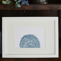 Limited Edition Sleeping Squirrel Lino print