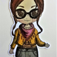 Chibi Girl 'Katie' single die cut