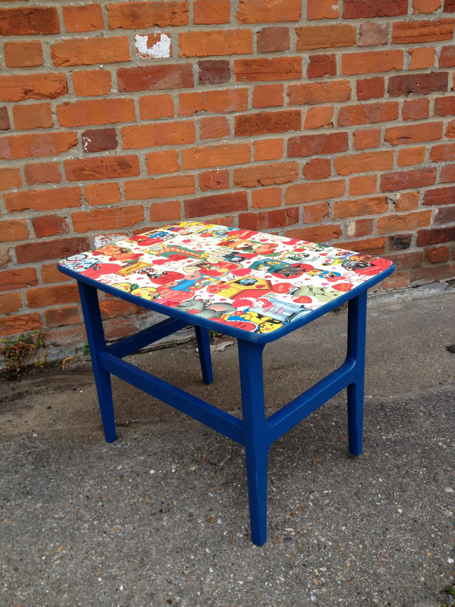 Decoupage side table