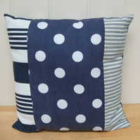 *SALE* Blue patchwork cushion