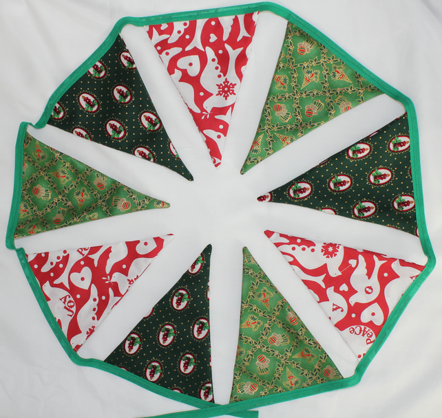 Fabric Christmas bunting - postage included