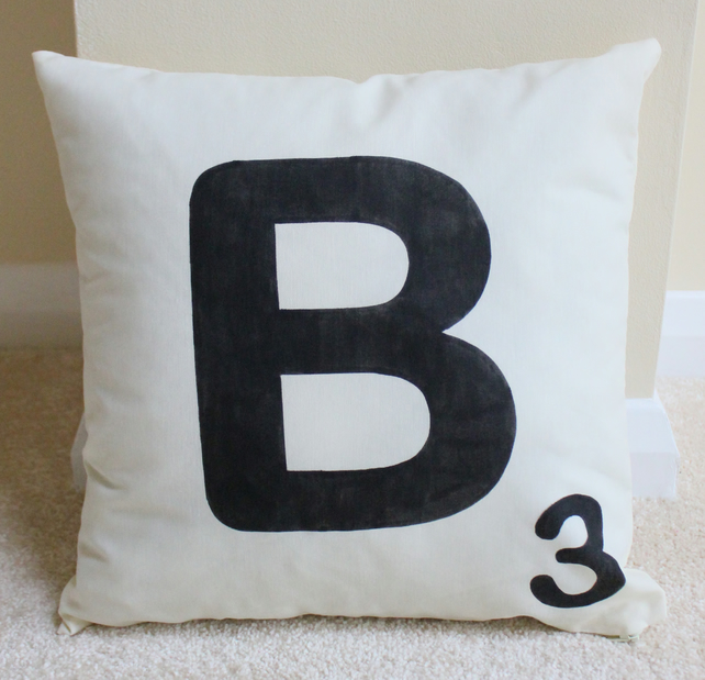 Personalised Scrabble Letter Cushion