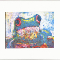 SALE - Original Frog Colour Monoprint