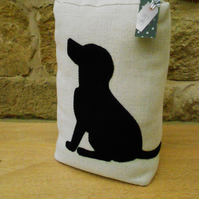 Black Labrador Applique Doorstop
