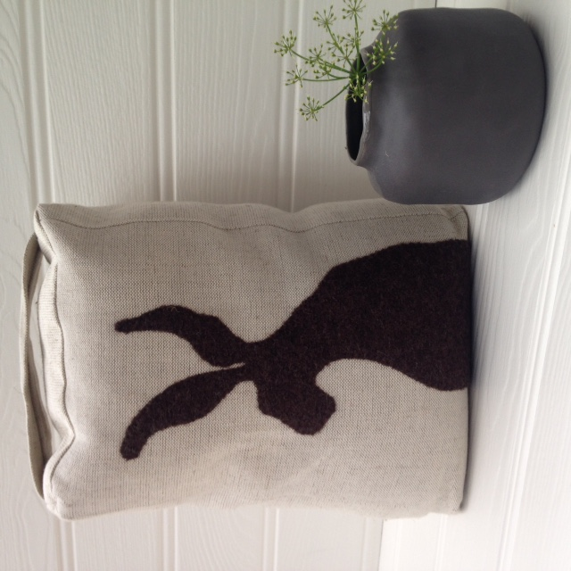 Sale - Handmade Sitting Hare Applique Doorstop