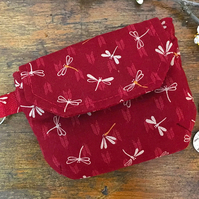 Japanese dragonfly pattern coin purse, mini pouch