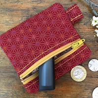 Japanese geometric pattern coin purse