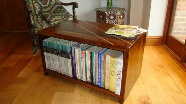 Wooden Coffee Table  Bookcase  TV or Hi Fi
