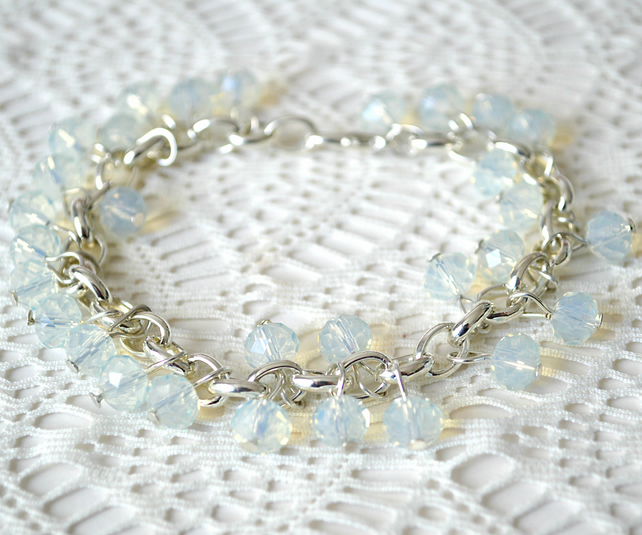 Sale! 20% off! Moonstone Charm Bracelet
