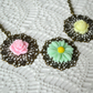 Spring Flower Cabochon Necklace