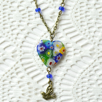 Millefiori Heart Necklace
