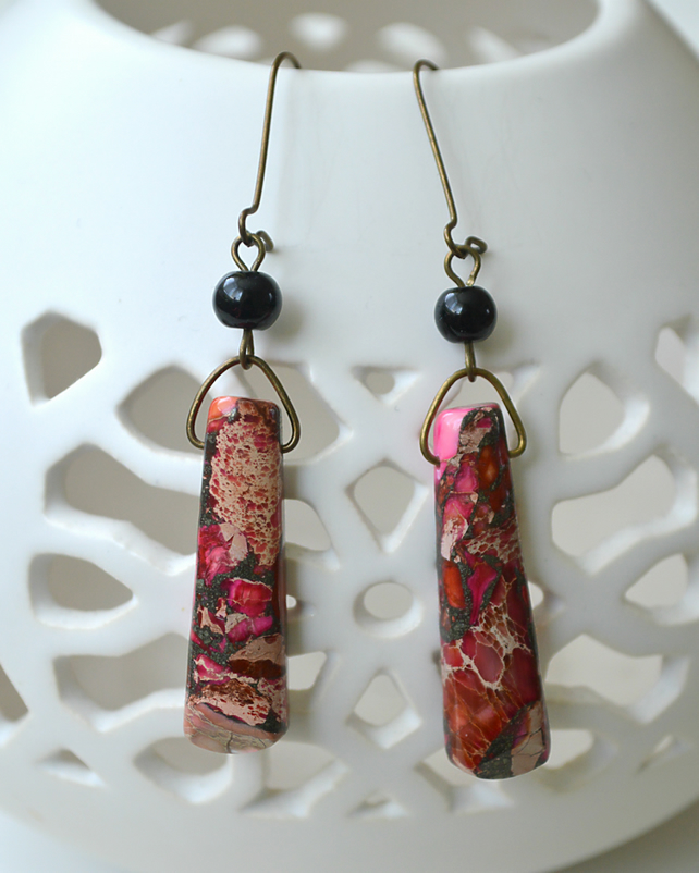 Pink Jasper Earrings