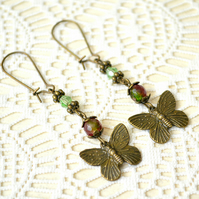 Vintage-inspired Butterfly Earrings
