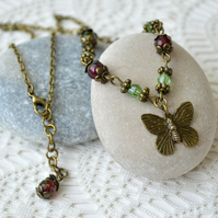Vintage-inspired Butterfly Necklace