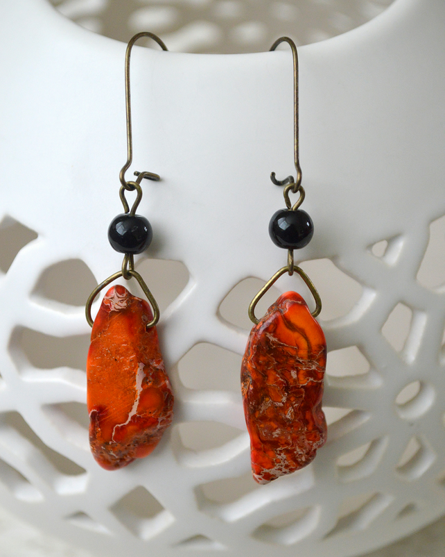 Orange Jasper Earrings