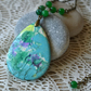 Picture Agate Pendant in Shades of Sky Blue