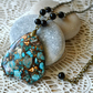 Sky Blue & Copper Jasper Pendant Necklace