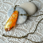 Natural Form Yellow Agate Pendant Necklace