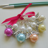 Guardian Angel Stitch Markers for knitting or crochet