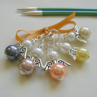 Guardian Angel Stitch Markers for knitting or crochet set 2
