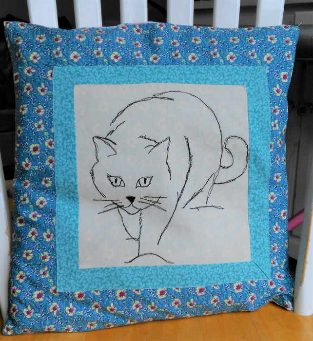 Handmade Cat Cushion