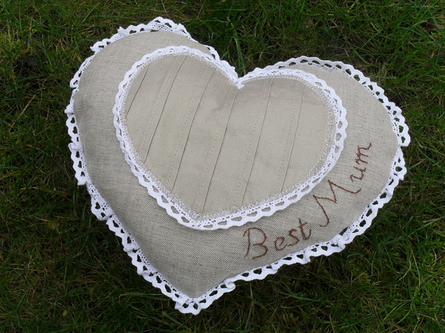 BEST MUM Cushion Gift FOR Mothers day -Shabby Chic-One of a kind