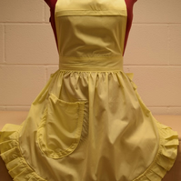 Vintage 50s Style Full Apron Pinny - Lemon