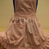 Vintage 50s Style Full Apron Pinny - Pastel Pink