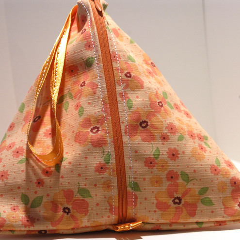 Pyramid bag- Orange Blossom