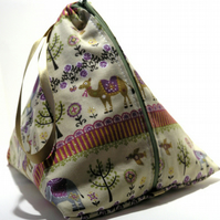 Knitting Pouch- Pyramid Style- Twilight Safari
