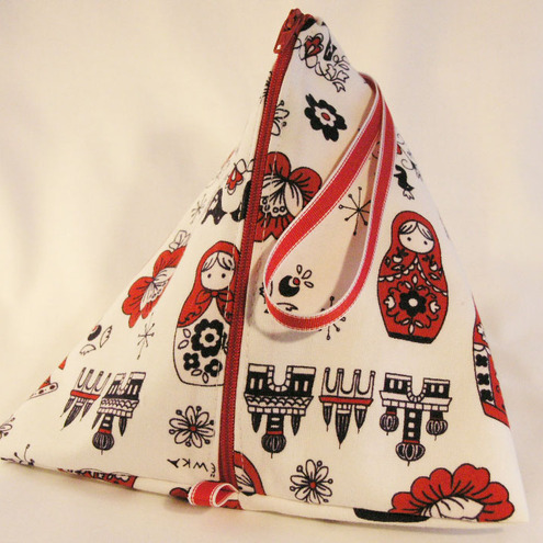 Knitting Bag- Pyramid Style- Russian Dolls abstract