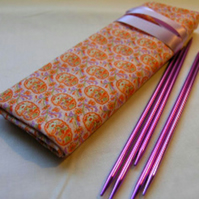 Knitting  DPN Roll- Paisley